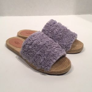UGG Edith Fluffly Slide Purple Flog Summer Sandals